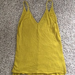 Project social mustard colored tank top